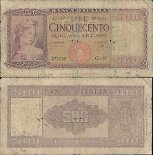 500 LIRE ITALIA ORNATA DI SPIGHE DEC.23/03/1961 MB