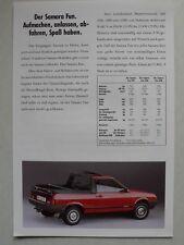 Prospekt Lada Samara Fun 1100, 1300 und 1500, 9.1990, 2 Seiten