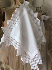 Antiguo Chateau francés sobre-Lay Mantel/Bandeja Mat ~ mestizos Textil & encaje de ganchillo