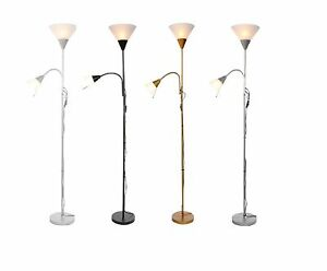 BRAND NEW MOTHER AND CHILD FLOOR LAMP UPLIGHT 180CM BRASS,SILVER AND BLACK