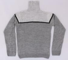 BoohooMAN Men's Long Sleeve Color Block Roll Neck Sweater SD8 Gray Medium NWT