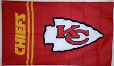 Kansas City Chiefs Banner 3x5 Ft Flag Man Cave Decor NFL Football Free Shipping