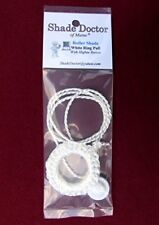 SHADE DOCTOR Roller Window Shade DELUXE WHITE RING PULL & Screw Button