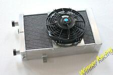 86mm Aluminum Radiator &Fan Fit Lotus Europa 1.5L/1.6L 1966-1976 1967 1975 M/T