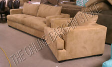 Pottery Barn Hampton Sofa Couch & arm Chair oat everyday suede upholstered 2pc