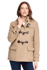 LANDS' END 12 Warm Camel Wool Blend Duffle Jacket NWT $219