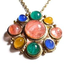"""Vintage Weiss Pendant with 23 1/2"""" Chain"""