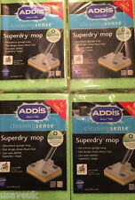 4 x Addis Superdry Mop Refill Anti Bacterial Cleaning Sponge Mop Head Refills