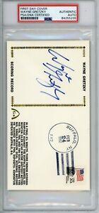 1982 Gateway First Day CoverCachet Wayne Gretzky Scoring Record Signed PSA HOF
