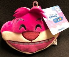 DISNEY STORE PLUSH CHESHIRE CAT DOUBLE SIDED EMOJI REVERSIBLE NEW WITH TAG