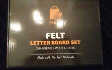 Wooden Black Felt Letter Board – with Stand, Brass Wall Hanger, Scissors, Bag,