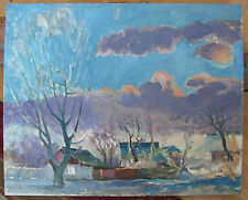 "Oil painting ""Early Spring"" M.Koshel Ukraine 1970"