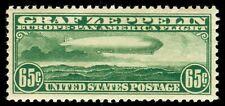 MOMEN: US STAMPS #C13 GRAF ZEPPELIN MINT OG H XF