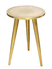 Moroccan Gold Brass Side Table Hammered by Hand in Morocco 60cmx40cm 24''x16''