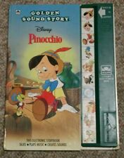 Vintage Disney Golden Sound Story Book Tested & Works  PINOCCHIO