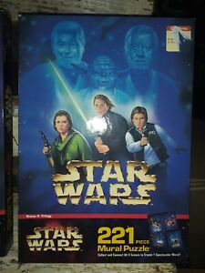 1997 MB STAR WARS 221 piece mural puzzle scene 4 (SEALED NEW)