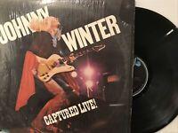 Johnny Winter – Captured Live! LP 1976 Blue Sky – PZ 33944 *Shrink Wrap VG/VG