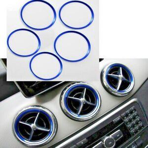 Mercedes Benz Air Vent Outlet Ring Cover Trim Blue 5Pcs For A/B/CLA/GLA Class