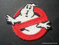 """GHOSTBUSTERS EMBROIDERED SEW OR IRON ON PATCH MOVIE LOGO 2 1/2"""" x 2"""""""