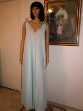 *RARE* CLAIRE SANDRA LUCIE ANN BH vintage nightgown SEAMFOAM GREEN size S small