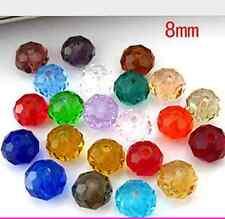 50pcs 8mm Fashion beautiful mixed crystal crystal beads