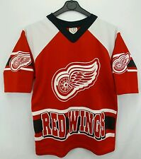 Vintage Sportonics NHL Detroit Red Wings Hockey Jersey Size Youth Large (14-16)