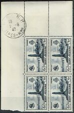 FRANCE PREMIER JOUR SAINT NAZAIRE 1947 BLOC DE 4 N°786 DU 02/08/1947 DE NICE
