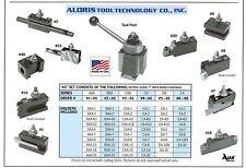 Aloris BXA Quick Change Lathe Tool Post +10 Holder Set #2-AS