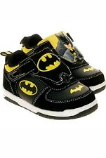 NEW DC Boys Toddler Batman Reversible Picture Sneakers Black Yellow Size 13