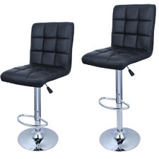 2 Black PU Leather Hydraulic Barstools Modern Design Adjustable Bar Stool Swivel