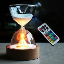 Hourglass Night Led Light Sandglass Novelty Home Office Decoration Lamp