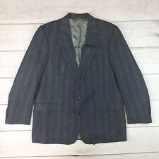 Christian Dior Men's 44 Gray Wool 2 Button Vintage Blazer Jacket Sport Coat