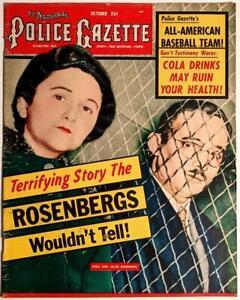 National Police Gazette - October 1953 - Vintage Mag - Ethel & Julius Rosenberg