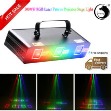 500mW RGB 3Lens Laser Scan Beam Light Stage Projector Pattern DMX DJ Disco Party