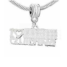 I Love Quilting Dangle Charm Beads for Snake Chain Charm Bracelet