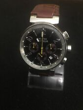 Montres de FLEUR,Quartz Chronograph Date,Brown Face Silver Dail,40mm Case. B34