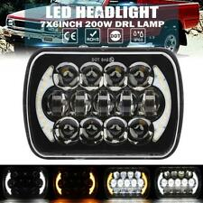 "7x6"" 5x7"" 200W LED Headlight DRL Turn Signal Lamp for Toyota Nissan Pickup Truck"