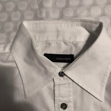 Dsquared2 Mens White Long Sleeve Shirt Size 50 IT (I HAVE A DREAM) Red Lettering