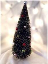 Gisela Graham Decorated Christmas Tree Acrylic Fir Ornamnet Gold Frosted 32cm
