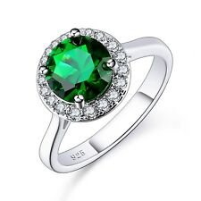 Fashion Emerald Green Silver Ring Lover's Valentines Gifts Wholesale Jewellery