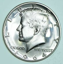 PROOF - 1964 Kennedy Half Dollar 90% Silver - Stunning Mirrors *115