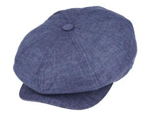 💎 G & H Summer Linen 8 Panel Peaky Blinders Style Newsboy Cap Hat