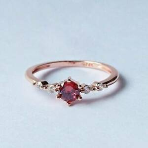Ruby silver ring for women us 2 size 13