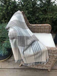 Merino Wool Blanket Wool Throw 55 x79 In Extra Quality Merino Wool Throw Soft