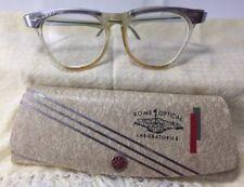 VTG 1950's Unbranded Rx Eyeglassess Small Womans Girls Cat's Eye w Case