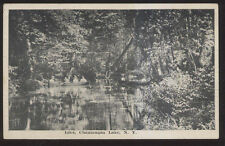 1907 Postcard Chautauqua Lake Ny/New York Boating Inlet