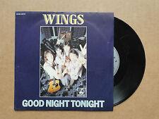 "DISQUE 45T DE  WINGS    "" GOOD NIGHT TONIGHT  """