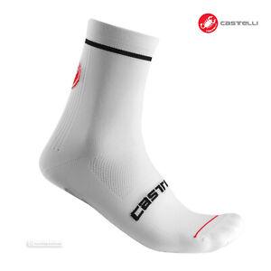 Castelli ENTRATA 9 Cycling Socks : WHITE - One Pair