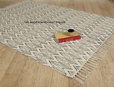 4*6 FT Block Print Rug Hand Loomed Mud Cloth Rug Carpet Handmade Cotton Area Rug