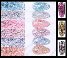 Nail Flakes Glitter Shards & Foil Decorations Body Art 20 COLOURS 3g Bag  - 1360